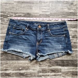 American Eagle Denim Short Shorts, Size 12